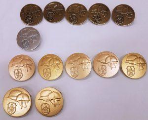 """Die diesjährige """"Ausbeute"""": 5x Stufe 1 (Bronze), 1x Stufe 2 (Silber) und 7x Stufe 3 (Gold)"""